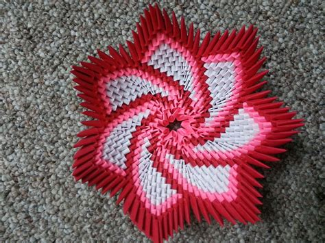 Www Origami 3d - origami spiral flower bowl https www etsy listing