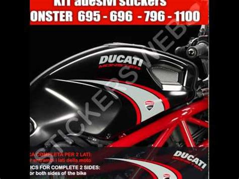 Ducati Monster 695 Aufkleber adesivi stickers moto ducati monster 695 795 796 1100 kit