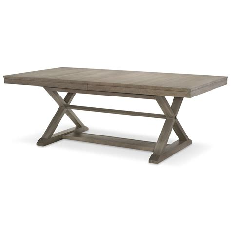 Rachael Ray Home Highline Trestle Table With 24 Quot Leaf Trestle Dining Table With Leaf