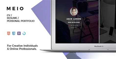 Cv Resume Maker Nulled nulled template meio portfolio cv resume for