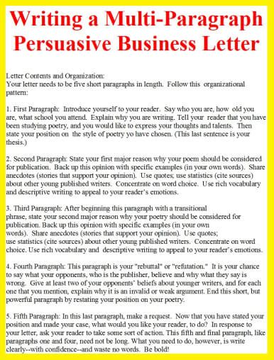 Business Letter Last Paragraph how to write a persuasive business letter format