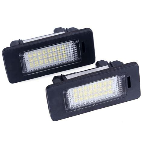 Led Plat Nomer 2pcs lot for bmw e39 e60 led license plate light 6000k led