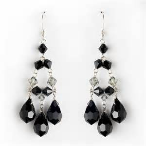 black chandelier earrings black chandelier earrings for wedding and prom