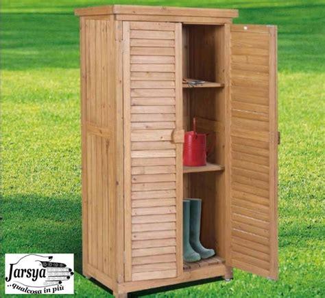 armadio terrazzo armadio in legno da esterno 82x42x160 solido jarsya