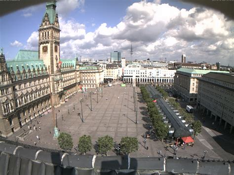 webcam hamburg rathausmarkt town hall square europe