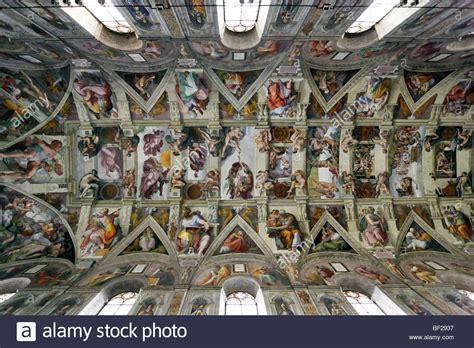 decke der sixtinischen kapelle sistine chapel michelangelo stockfotos sistine chapel