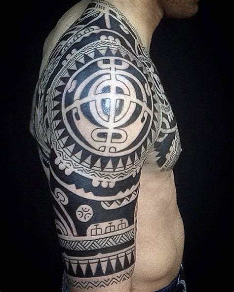 tribal half sleeve tattoo designs for men 75 half sleeve tribal tattoos for masculine design ideas