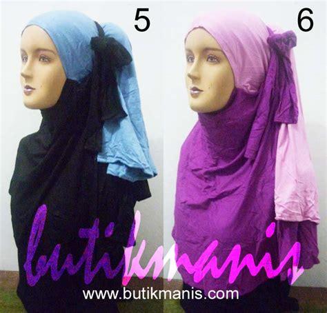 Jannah Jilbab Bolak Balik Pricilla pashmina ponytail 2 warna grosir jilbab kerudung murah