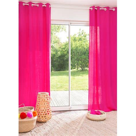 tende fucsia tenda fucsia in lino slavato con occhielli 110 x 250 cm
