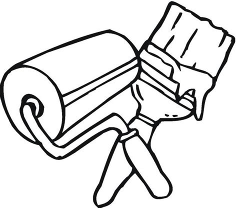 house items coloring pages tools to color pictures painting coloring page craft