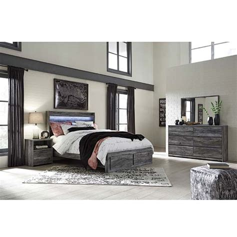 ashley baystorm  piece queen bedroom set  rent