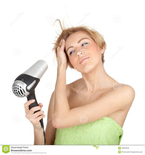Hair Dryer X5 drying hair by dryer stock photo image 18023448