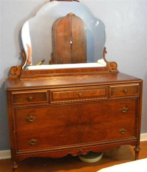 antique bedroom dresser antique vintage walnut wood bedroom dresser w mirror stewartstown furniture pa ebay
