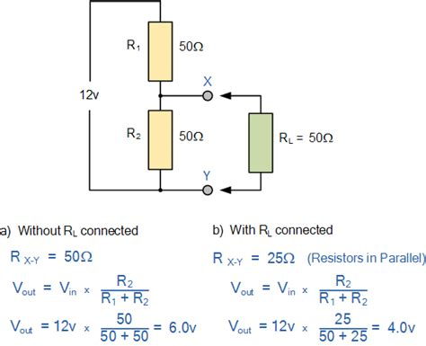 resistor and voltage calculator voltage divider rule electronics