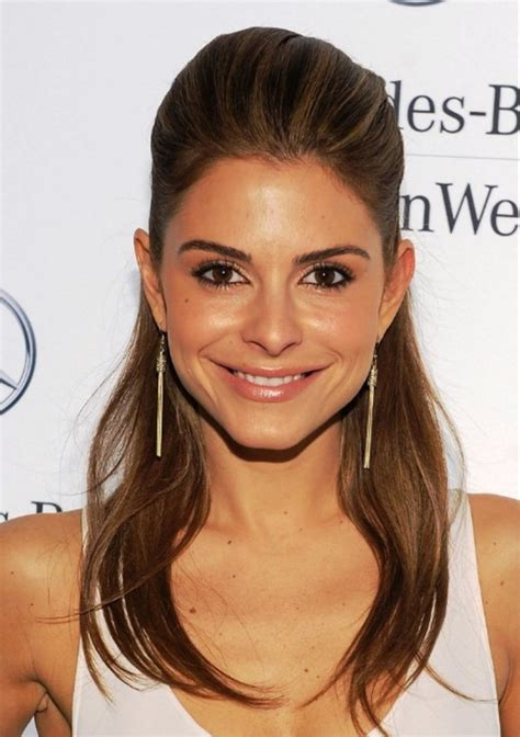 half up half down hairstyles for long faces maria menounos half up half down hairstyle for long