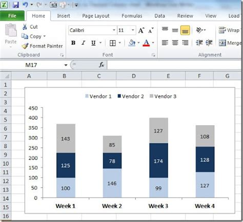 xss tutorial exle how to make a stacked bar chart excel 2010