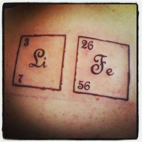periodic table tattoo periodic table lithium iron these are the