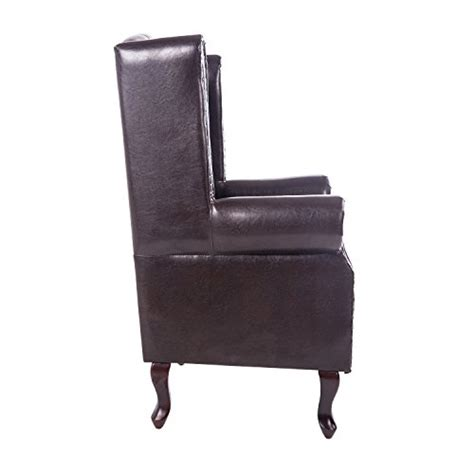 Antique High Back Armchair by Homcom Antique High Back Chair Pu Leather Seat