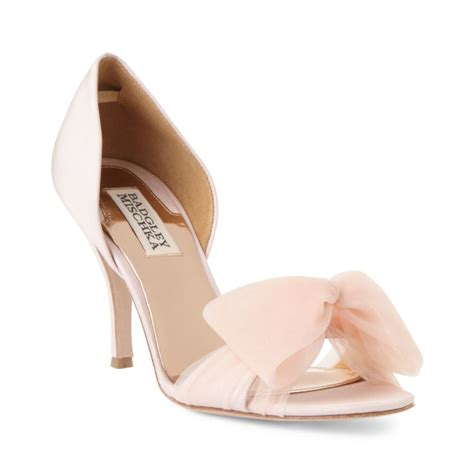 badgley mischka zandra two pumps in pink blush lyst