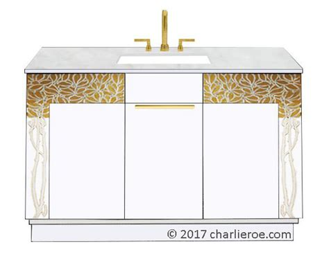 Another Word For Vanity by New Vienna Secession Nouveau Jugendstil Painted Bathroom Vanity Units Bathroom Furniture