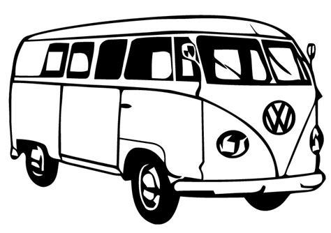 volkswagen van drawing vw van clipart clipart suggest