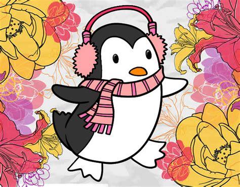 Imagenes Cool De Navidad   dibujo de pinguino navidad cool pintado por julylove en