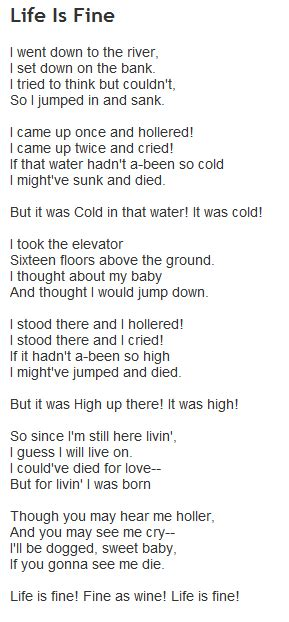 langston hughes biography for students reading of langston hughes life is fine drew s poetry