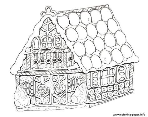 coloring page gingerbread house printable gingerbread house coloring pages printable