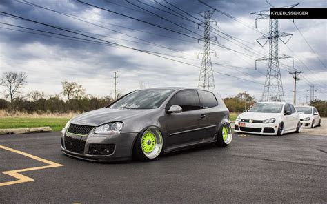 slammed volkswagen golf slammed vw mk5 golf on bbs german vermin pinterest