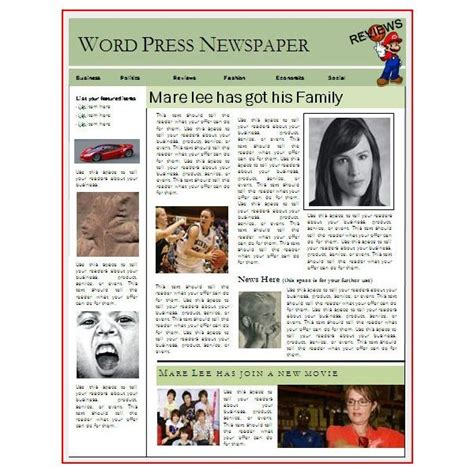microsoft publisher newspaper template free blank newspaper article template