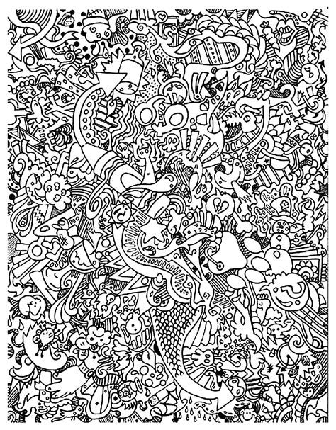free like doodle free coloring page coloring doodle doodling 18