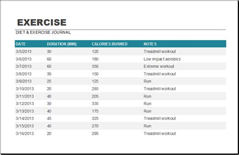 Exercise Worksheets by 20 Editable Worksheet Templates For Everyone S Use