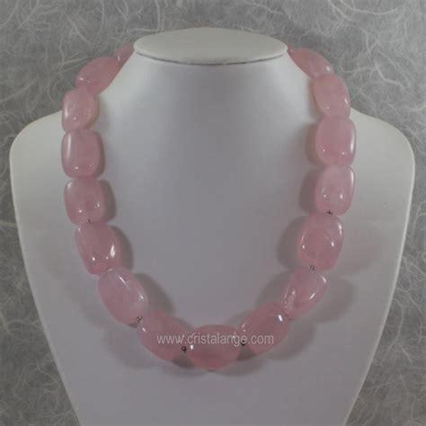 rose quartz l bijoux quartz rose cristalange com collier quartz rose
