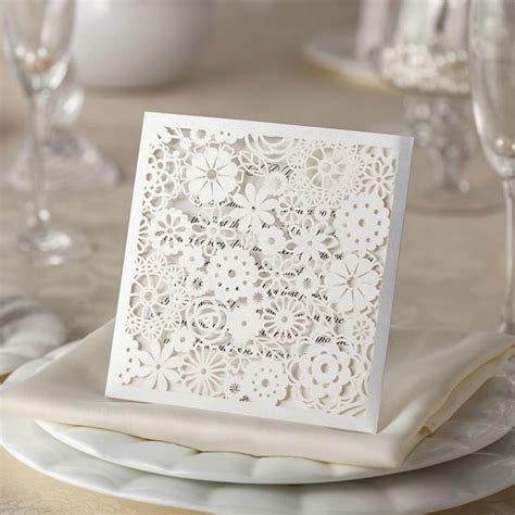 Hochzeitskarten Günstig by Edle Hochzeitskarten Laserschnitt Ornament Hochzeitskarten
