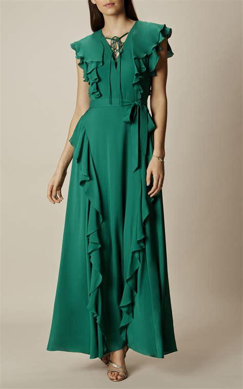 Ruffle Lace Dress ruffle and lace up maxi dress millen