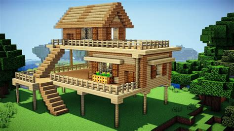 how to make a house minecraft starter house tutorial how to build a house in minecraft easy