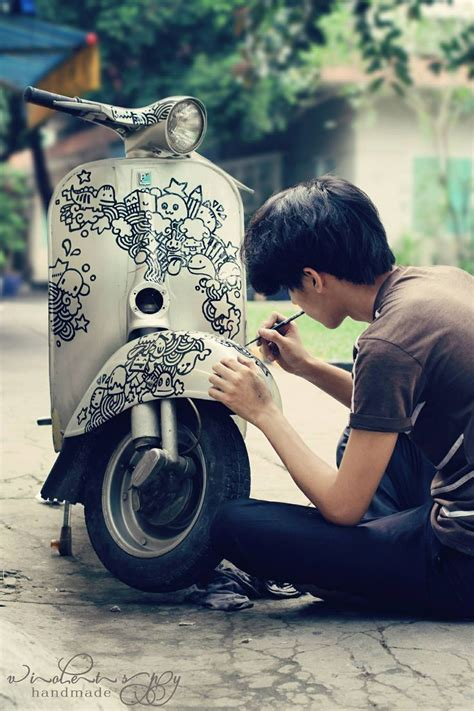 vespa custom paint whatever i like creativity paint ideas and pictures