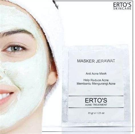 masker jerawat erto s anti acne mask obat jerawat uh banget
