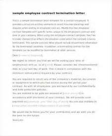 Letter Of Employment For Contract Staff 53 Termination Letter Exles