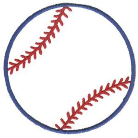 baseball template baseball outline embroidery design