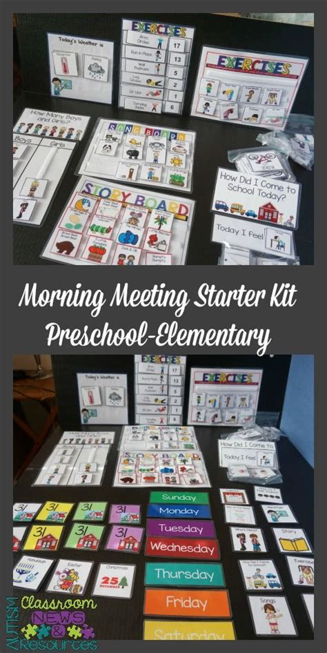 education convention themes morning meeting starter kit preschool elementary autism