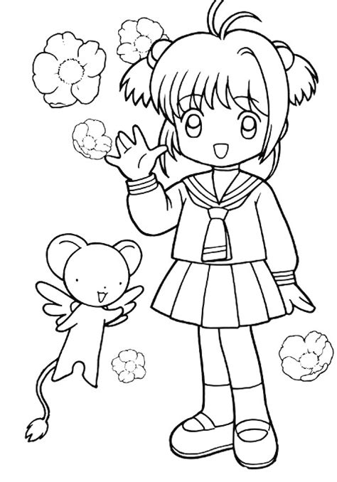 kids n fun com coloring page sakura sakura