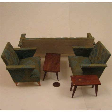 mid century modern doll house 5 pc living room furniture