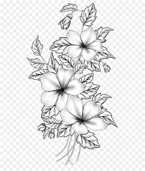 desain bunga bunga potong menggambar cabang mcsf