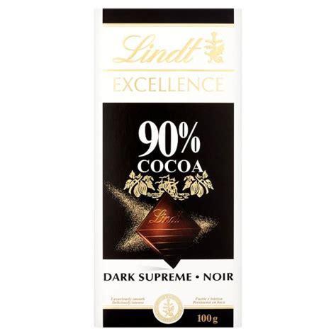 Chocolate 90 Datk Coklat Coklat Batang lindt excellence 90 cocoa chocolate bar 100g groceries tesco groceries