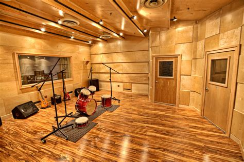live room media acoustic environments in relation to audio recording
