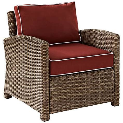 Outdoor Armchair Cushions by Bradenton Wicker Sangria Cushion Outdoor Armchair 7k165