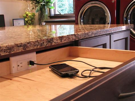 Alexandria Kitchen Island by Charging Station For Electronics Kitchen Contemporary With