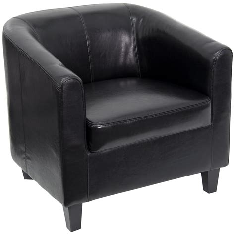 Flash Furniture Black Leather Office Guest Chair Black Leather Office Sofa
