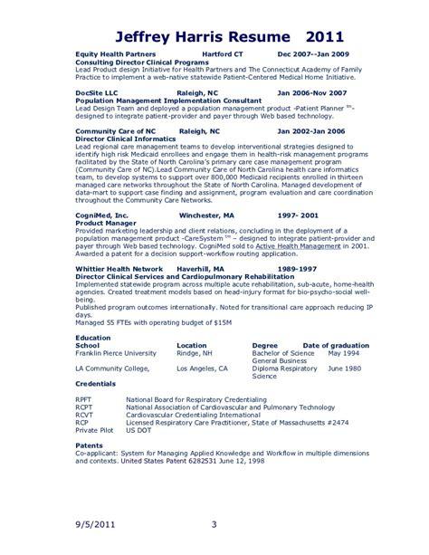 jfh resume 2011